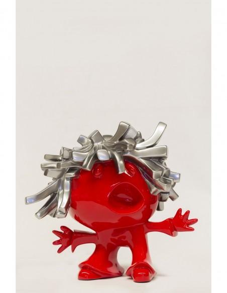 El Pelusa. Técnica mixta sobre resina pintadas en Cromo al 90% y pintura bicapa de Xavi Carbonell. Colección EL PELUSA