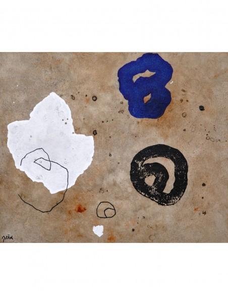 acrílico sobre papel preparado por el artista