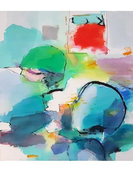 Tecnica mixta acrílica sobre lienzo de Miguel González de San Román